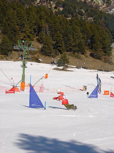 Slalom Paralelo en el Campeonato de España de snwboard 2009