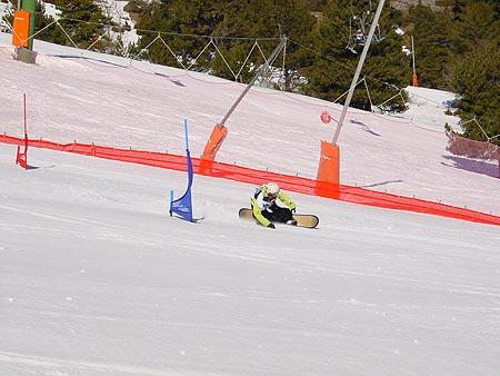 Eslalom Paralelo Gigante en el Campeonato de España de snowboard 2009