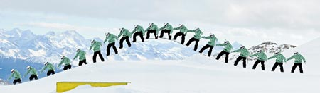 Secuencia Ollie snowboard