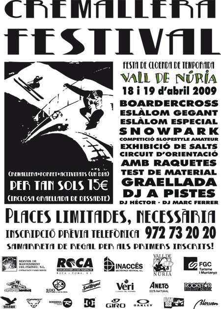 Cartel Cremallera Festival 09